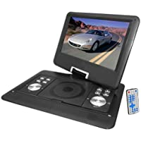 Lectronify LEDH14 14 Widescreen High Resolution Portable Monitor w/ Built-In DVD, MP3, MP4 Players, USB Port & SD Card Slot Readers