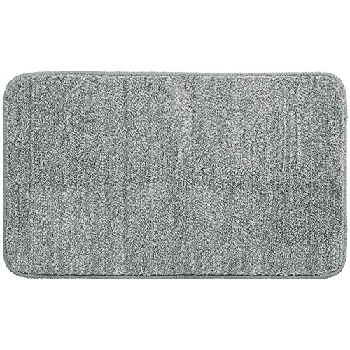 "Lifewit Indoor Doormat Super Absorbent Water Low Profile Mats 35"" x 24"" Machine Washable Non Slip Rubber Entrance Rug for Front Door Inside Dirt Trapper Mats Shoes Scraper, Grey"