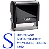 Blue Ink, Custom Self Inking Return Address Stamp Personalized – Business Office Mail Stampers – Brilliant Gift for Real Estate Clients, Newlyweds, Family, Wedding or Housewarming