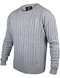 Guinness Grey Cable Knit Cotton/Cashmere Sweater