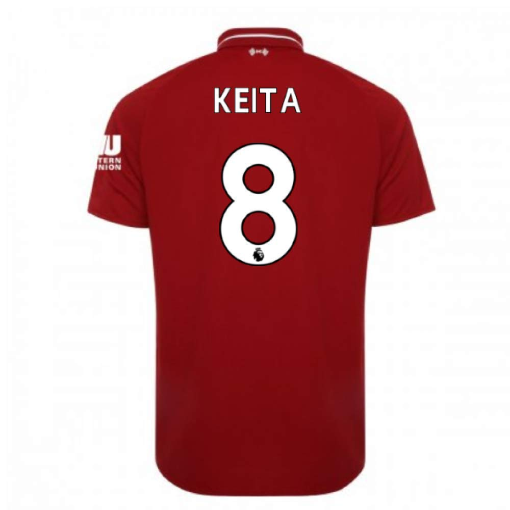 2018-2019 Liverpool Home Football Soccer T-Shirt Trikot (Naby KeïTA 8)