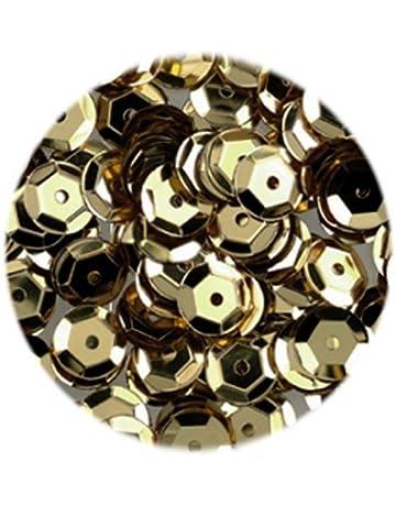 40 g efco-Lustrini concavi rotondo confezione da 4,000 pezzi colore: beige 6 mm finitura opaca