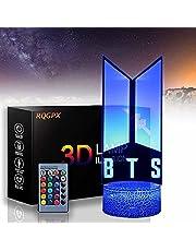 BTS 3D Nachtlampje lamp Gift voor Fans Slaapkamer Decor Licht Led Sensor Kleur Veranderende Werk Bureaulamp