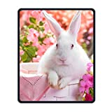 Mouse Pad Galaxy Rectangle Non-Slip Rubber Mousepad Rabbits Easter Bunny Print Gaming Mouse Pad