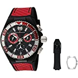 Technomarine Men's 'Cruise' Quartz Stainless Steel and Silicone Casual Watch, Color:Two Tone (Model: TM-115179)