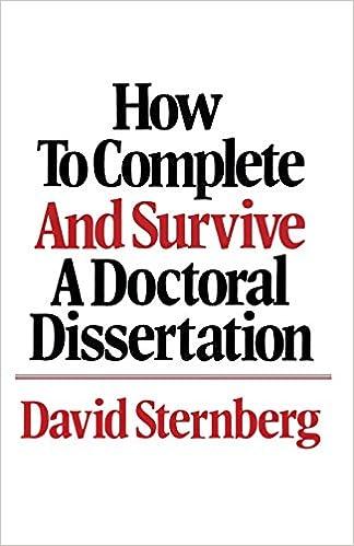 dissertation books amazon