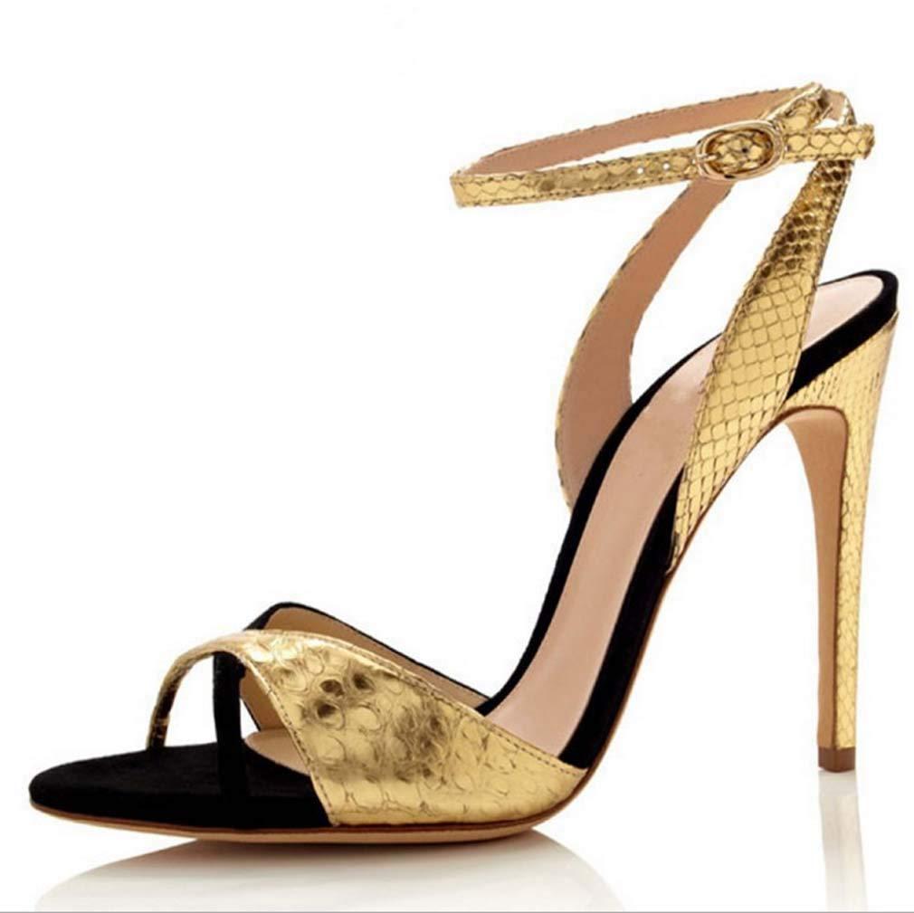 gold shoes Women's Pleaser Heels Open Toe Sandals,Pointed Cross Strap High Heels,Slip on Lightweight Stiletto Heel Footwear