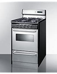 Summit TTM13027BKSW Kitchen Cooking Range, Stainless Steel