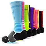 JiYe Athletic Crew Elite Socks For Football,Basketball,Lacrosse&Other Sports For Men & Women 2Pairs