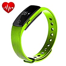 Makibes ID107 Fitness Tracker waterproof wireless Bluetooth 4.0 Smartband & Heart Rate Monitor Multi-functional Sports Wristband Smart Bracelet for Android iOS