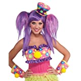 Forum Novelties 67981-1-Standard Circus Sweetie Mini Top Hat, Standard, Black, Pink, Yellow