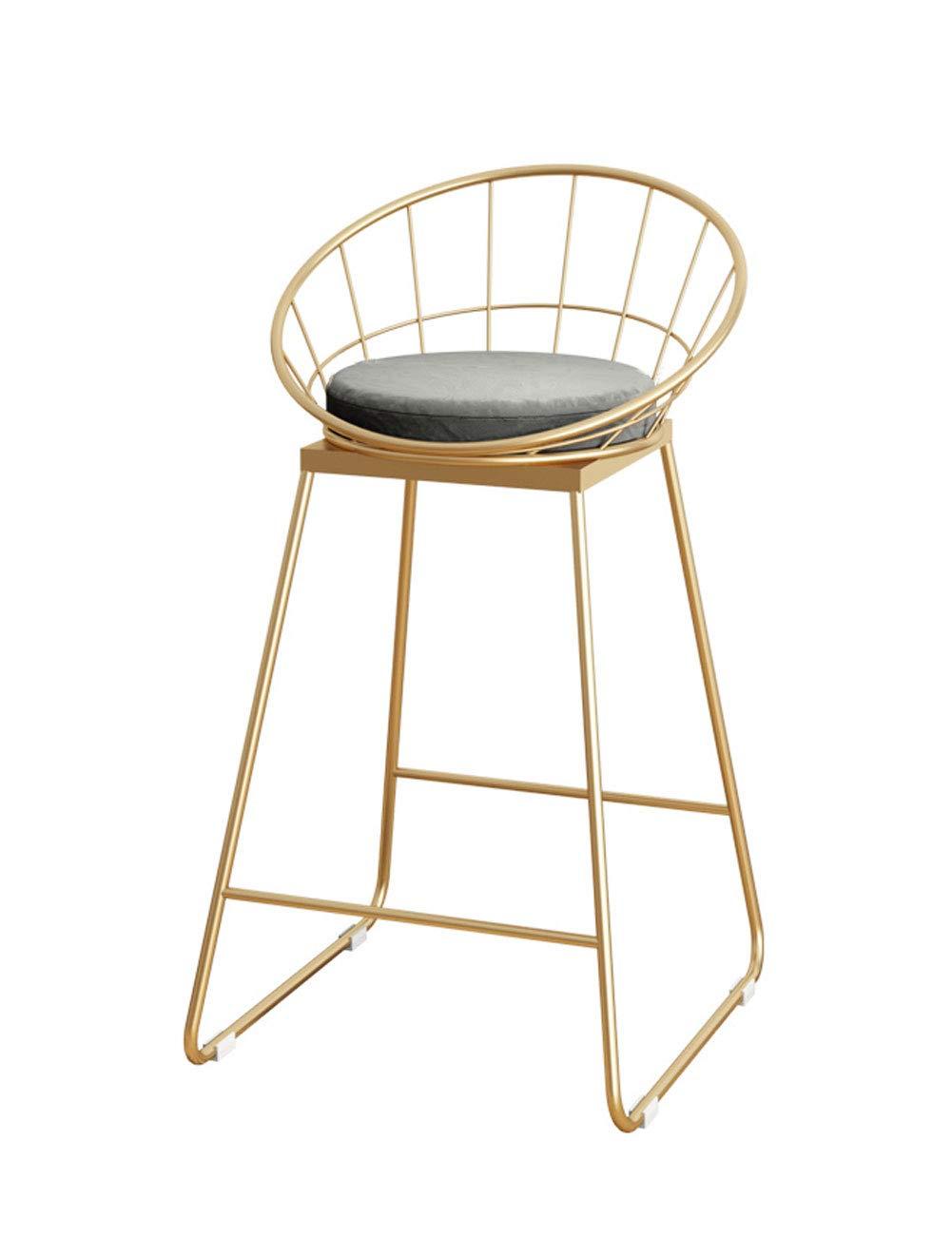 gris  Tabouret de bar en bois massif américain Tabouret haut Tabouret de bar Nordic Chair Coffee Shop Creative Rétro Simple Chaise de Bar (Couleur   Blanc)