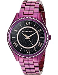 Michael Kors Womens Lauryn Quartz Stainless Steel Casual Watch, Color:Purple (Model: MK3724)