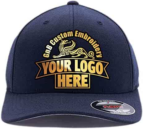 15ad608c081f Yupoong Custom Hat Flexfit 6277. Embroidered. Place Your Own Logo or Design