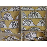 Scion Spike Fabric. Honey 16/40cm Cushion with Hollowfibre Pad by Jessica Anna