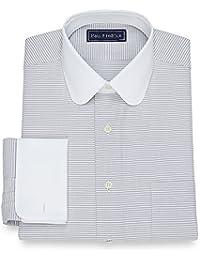 Men's Cotton Horizontal Stripe Dress Shirt