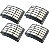 HEPA Filter 4-Pack for Shark XHF350 fits Navigator Lift-Away NV350 NV351 NV352 NV350_26 NV355 NV356 NV357 NV360 NV360-26 NV351-26 NV356E XHF-350 XH-F350 Series Vac Vacuum Cleaner