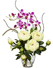 Nearly Natural Nearly Natural 1175 Peony and Orchid Silk Flower Arrangement 29 ' X 10 25 1