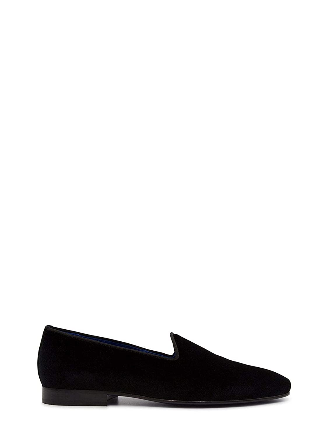 - LEQARANT Men's 700202BLACK Black Suede Loafers