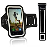 """iPhone 7 / 8 Running Armband with Fingerprint ID Access. Phone Arm Case Holder for Running, Gym Workouts & Exercise (Small 9"""" - Large 20"""" Arms)"""