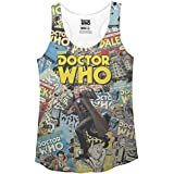Ripple Junction Doctor Who Comic Covers Juniors Racerback Tank 2XL Multicoloured