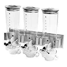 SODIAL(R) Muesli dispenser Cereal Dispenser Indispensable Dispenser Muesli Container made of plastic Wall mounting with three capacities