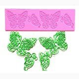 Helen Zora DIY Silicone Butterfly Lace Fondant Embossed Mold Sugarcraft Cake Decorating Mould
