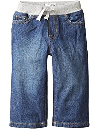 Baby Boys' Pull-on Liberty Denim Jean, Aged Stone, 9-12 Months