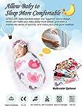 QTECLOR Newborn Receiving Blanket Headband Set