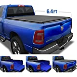 Tyger Auto Black T1 Roll Up Truck Tonneau Cover TG-BC1D9047 Works with 2019 1500 New Body Style | Without Ram Box | Fleetside 6.4' Bed