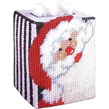 Tobin Santa Tissue Box Plastic Canvas Kit