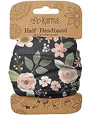 Karma Gifts Women's Half Headband, Accessory, Black Floral, No Size
