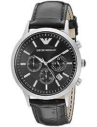 Emporio Armani Men's AR2447 Classic Analog Display Analog Quartz Black Watch