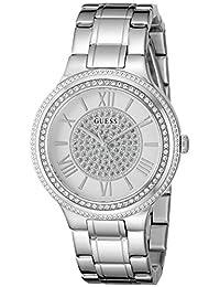 GUESS Women's U0637L1 Classic Silver-Tone Watch