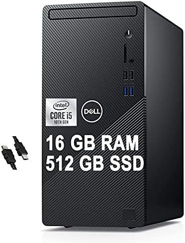 2021 Flagship Dell Inspiron 3000 3880 Desktop Computer 10th Gen Intel Hexa-Core i5-10400 (Beats i7-8700T) 16GB RAM 512GB SSD Intel UHD Graphics 630 WiFi No-DVD Win10 + iCarp HDMI Cable