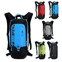 Waterproof Backpack for Cycling Running Hiking Mountain Biking Snowboarding Skiing, Breathable Rucksack for Outdoor Sports Camping/10L (black)