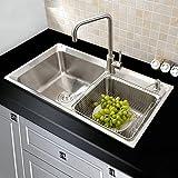 Stainless Steel Sinks 30 Inch Kitchen Sinks Double Bowl 18 Gauge Homelava