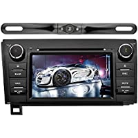 YINUO In Dash Android 7.1.1 Double Din 7 Inch Capacitive Touch Screen Car Stereo DVD Player GPS Navigation with Bluetooth for Toyota Tundra/Sequoia,with Reverse Camera.7 Color Button illumination