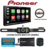Pioneer MVH-2300NEX 7 Digital Multimedia Video Receiver w Apple CarPlay, Android Auto, Built-in Bluetooth, SiriusXM-Ready + SXV300KV1 SiriusXM Tuner + SV5130IR Backup Camera and SOTS Freshener