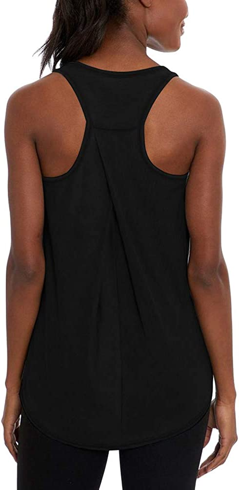 Mippo Workout Tops for Women Yoga Shirts Loose Fit Athletic Racerback Tank Tops Gym Clothes: Clothing