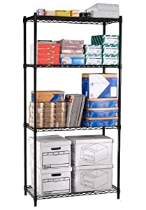 "Wire Shelving - Four Shelves - 48""W x 24""D x 72""H"