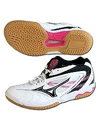 mizuno badminton shoes Wave Fang VS2 Mid 7km38009 White/Black/Pink (09)