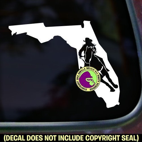 FLORIDA STATE Barrel Racing Vinyl Decal Sticker B