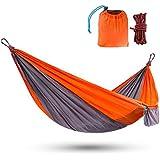 Touz Hammock Single & Double Camping Portable Parachute Hammock for Outdoor Hiking Travel Backpacking -Nylon Camping…