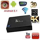 Lary intel K1 Plus S905 OTT Android 5.1 4K FULL HD Smart TV Box 1G/8G WIFI