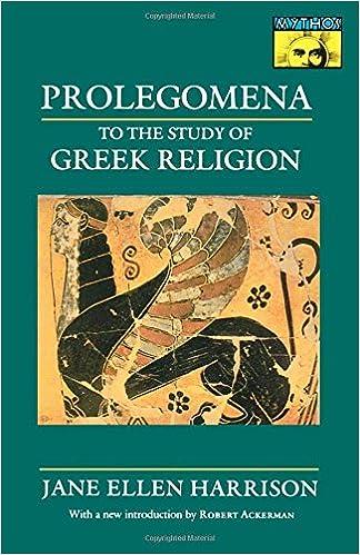 Prolegomena To The Study Of Greek Religion Mythos Books Jane - Greek religion