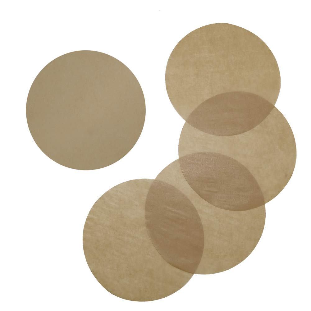 Baking Parchment Circles, Set of 100, 9 Inch Unbleached Baking Paper/Non Stick Baking Parchment/Greaseproof Paper Circles for Springform Cake Tin, Toaster Oven, Tortilla Press and so on