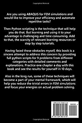 Amazon com: Crash Course on Python Scripting for ABAQUS: Learn to