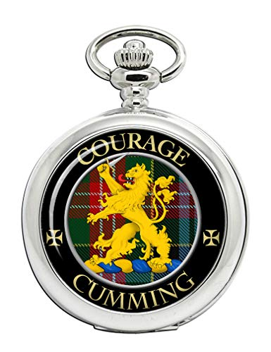 Cumming Scottish Clan Crest Full Hunter Pocket Watch