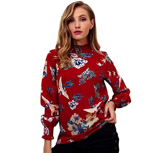 Femme Manches KUDICO Red Longues Chemisier gCqFtvwnF5